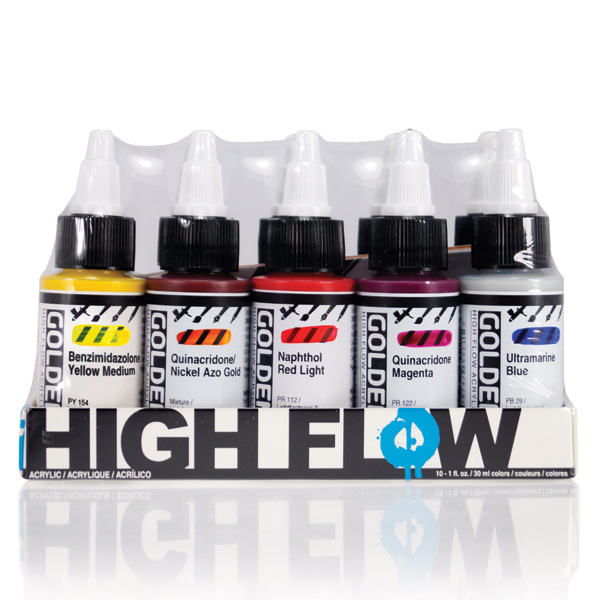 High Flow 아크릴 Set - Assorted Colors 30ml*10색
