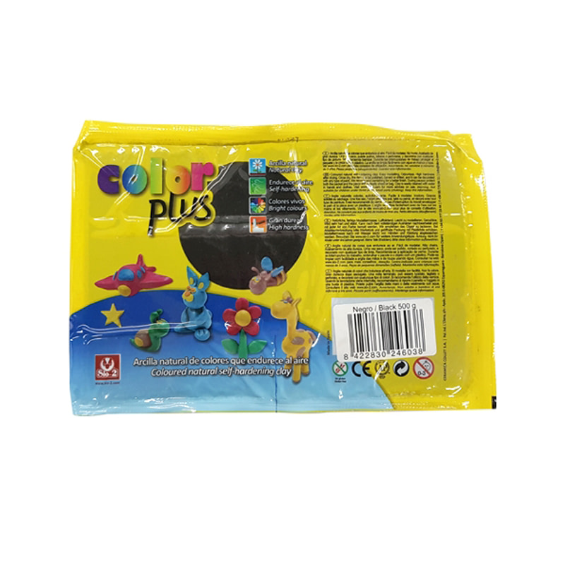 COLOR PLUS 찰흙 500g_검정