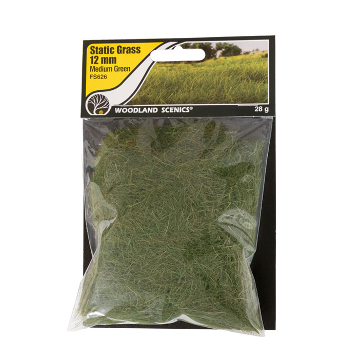 Static Grass Medium Green 12mm