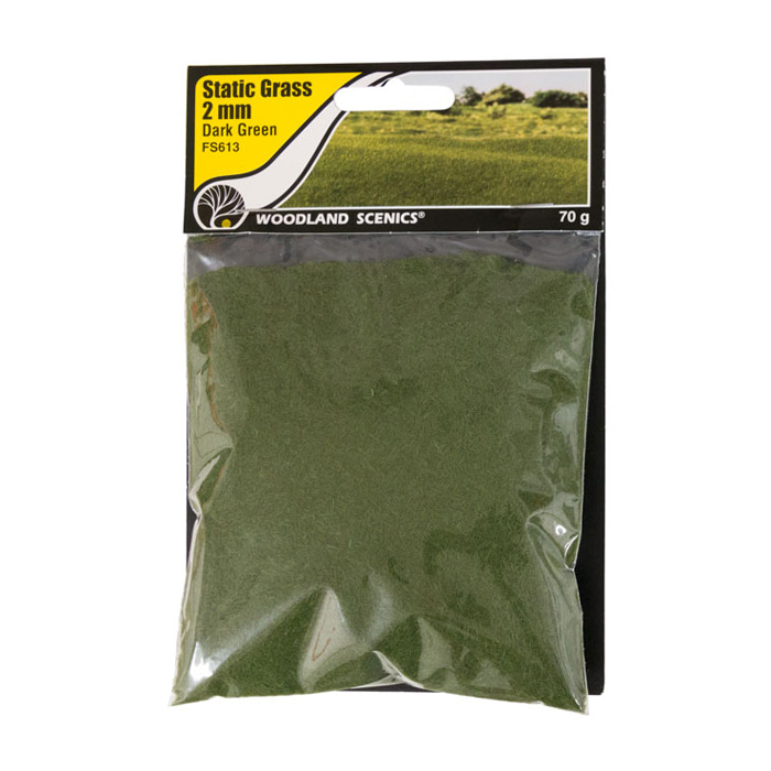Static Grass Dark Green 2mm
