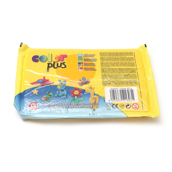 COLOR PLUS 찰흙 500g_노랑