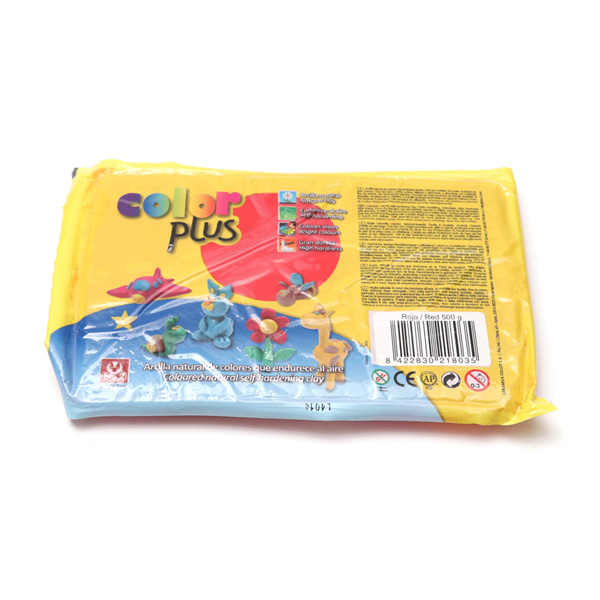 COLOR PLUS 찰흙 500g_빨강
