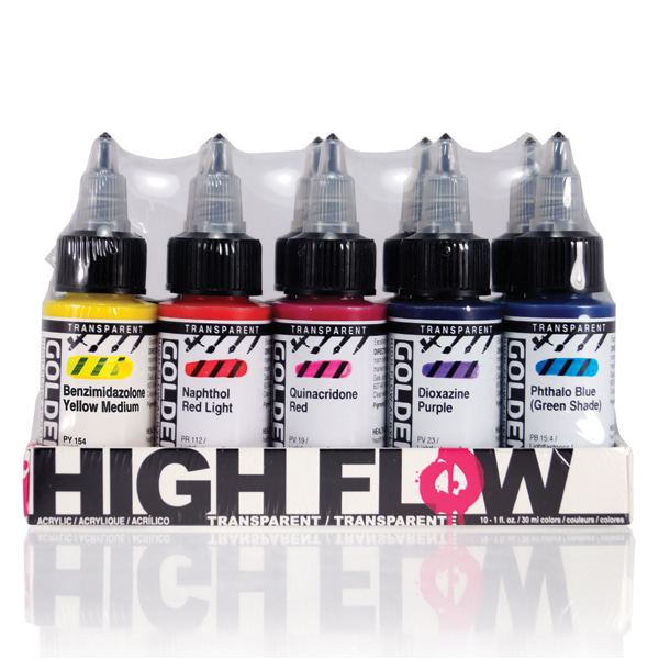 High Flow Transparent Set 30ml*10색
