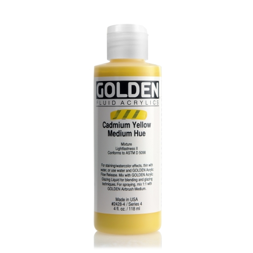 FLUID 아크릴 118ml S4_Cadmium Yellow Medium Hue