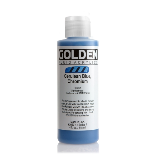 FLUID 아크릴 119ml S7_Cerulean Blue Chromium