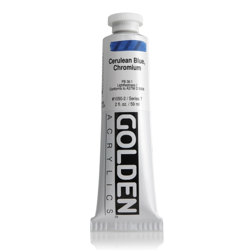 H.B 아크릴릭 물감 60ML S7_Cerulean Blue, Chromium