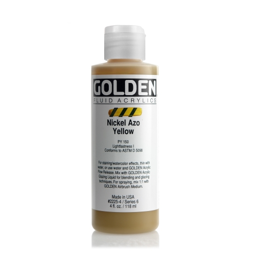 FLUID 아크릴 118ml S6_Nickel Azo Yellow