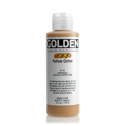 FLUID 아크릴 118ml S1_Yellow Ochre