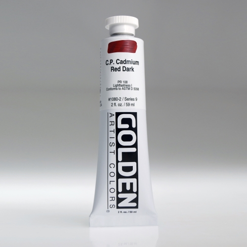 H.B 아크릴릭 물감 60ML S9_C.P.Cadmium Red Dark