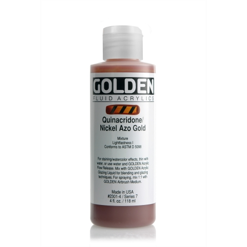 FLUID 아크릴 118ml S7_Quinacridone Gold