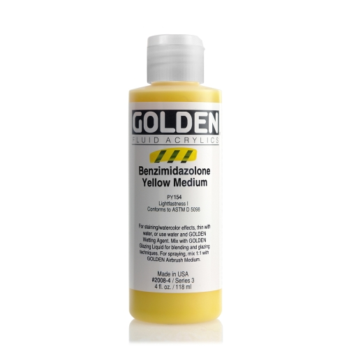 FLUID 아크릴 118ml S3_Benzimidazolone Yellow Medium