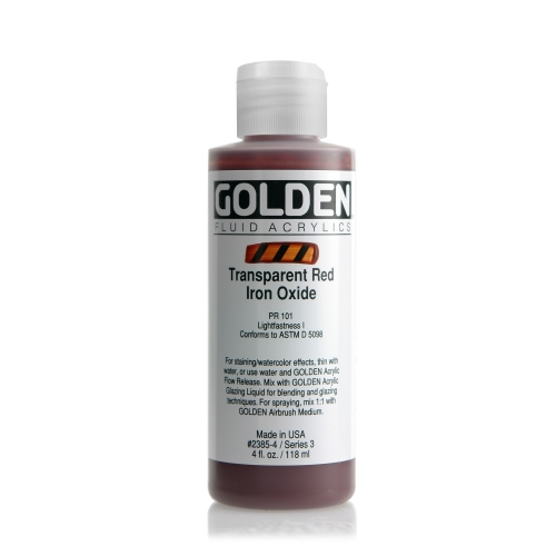 FLUID 아크릴 118ml S3_Transparent Red Iron Oxide