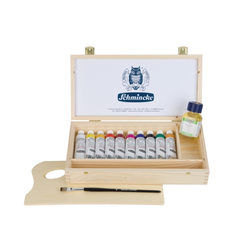 무씨니 MUSSINI WOODEN BOX,10*35ml+brush