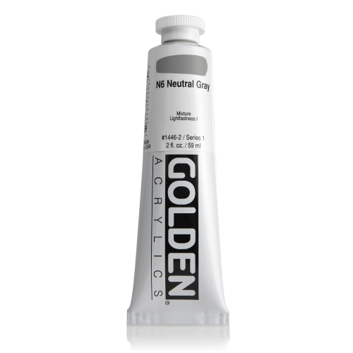 H.B 아크릴릭 물감 60ML S1_Neutral Gray N6
