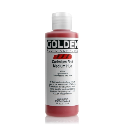 FLUID 아크릴 118ml S4_Cadmium Red Medium Hue